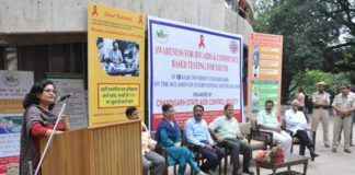 HIV/AIDS awareness cum community testing camp in Punjab University