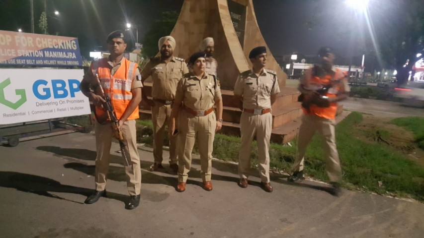 Joint checking Naka by Chandigarh Police in view of forthcoming Independence Day-2018
