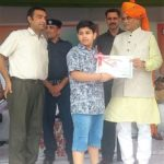 GuruKul School student Taekwondo Champion Anshuman Honoured
