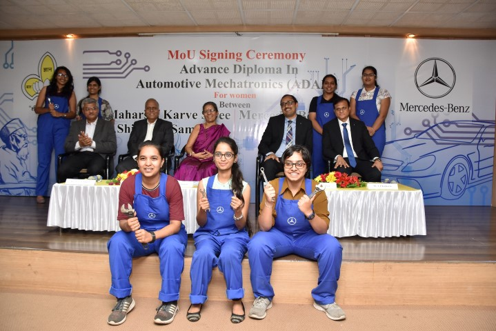 Mercedes-Benz, the first luxury car maker to commence an all-women Mechatronics course in India; inks MoU with Maharshi Karve Stree Shikshan Samstha (MKSSS)  First-of-its-kind tie-up for Advanced Diploma in Automotive Mechatronics (ADA