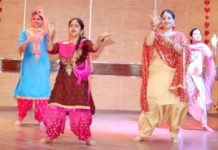 RGI celebrated teej, Students Show their skills at stage