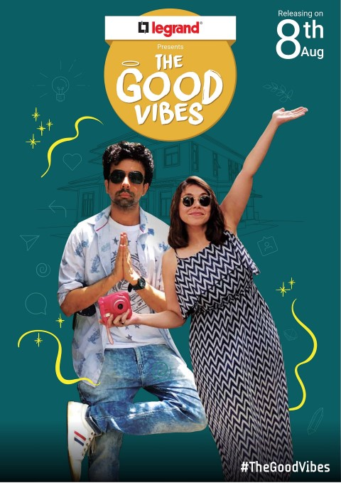 Naveen Kasturia and Maanvi Gagrooare with The Good Vibes
