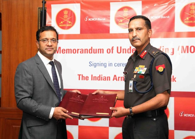 ICICI Bank signs MoU with the Indian Army