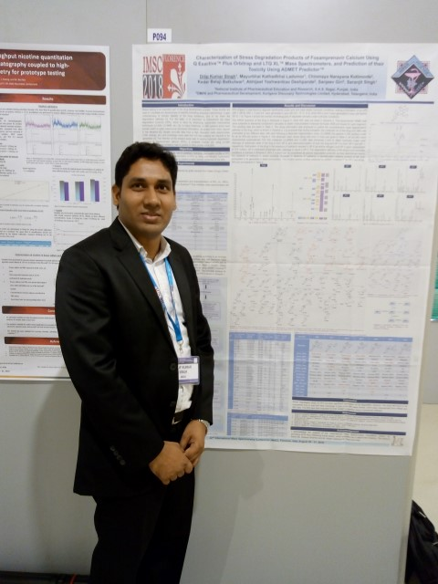NIPER's PhD scholar awarded at 22nd International Mass Spectrometry Conference, Italy