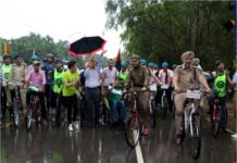 Cycle Rally Organised By Chandigarh police and Cyclegiri Group