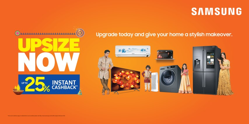 Give Your Home a Stylish Makeover-Up size with Samsung's Exciting Offers&Great Products