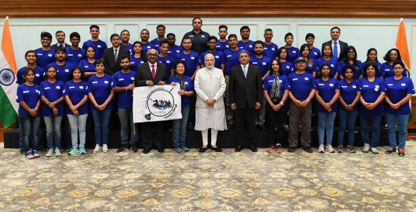 Prime Minister Shri Narendra Modi meets and interacts with participants of 'Mission Gange'