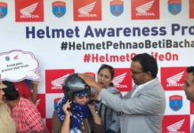 Honda joined hands with Chandigarh Traffic Police to support #HelmetPehnaoBetiBachao