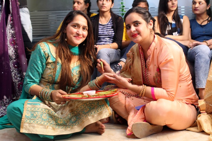karvachauth celebrated by Zuri academy