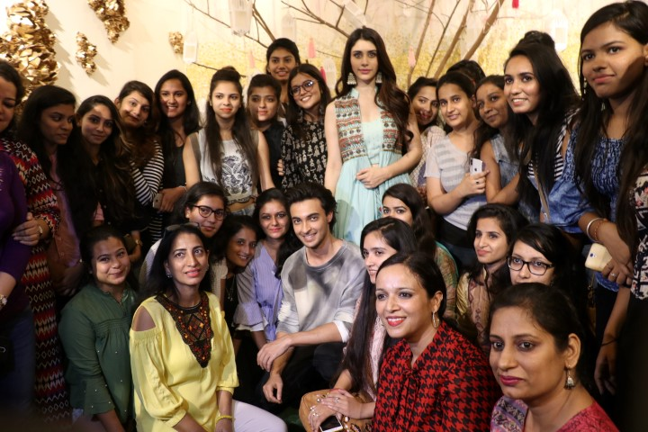 Salman Khan's LOVEYATRI Star Cast Aayush & Warina at INIFD Chandigarh