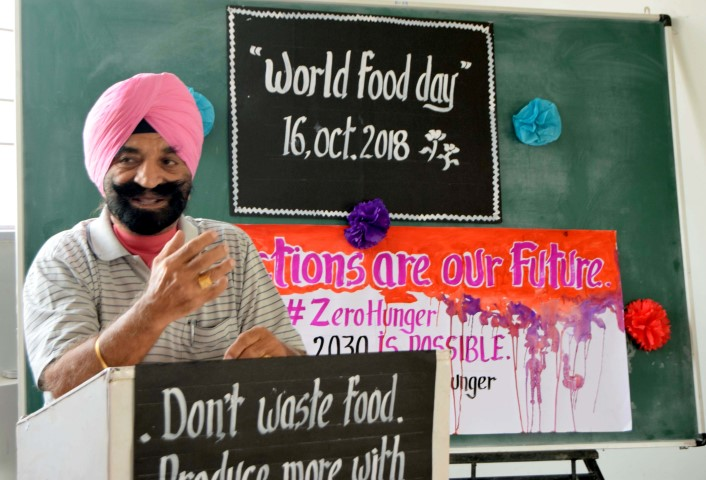 World Food Day celebrated at Indus Public School under the theme to save food