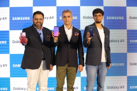 Experience the Power of Four with Galaxy A9, the World's First Quad Camera Smartphone