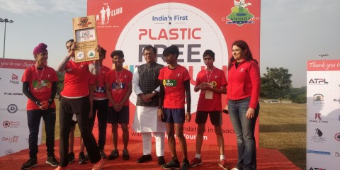 350 kids participated in India's first plastic free kids run 2018