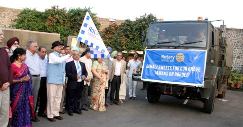 Punjab Governor flags off Rotary's gift of Diwali sweets for Jawans