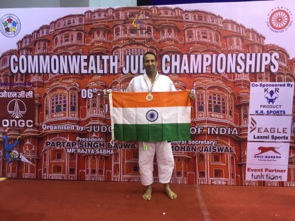 Inspector Amanjot Singh Chandigarh Police put in another gem in the field of sports
