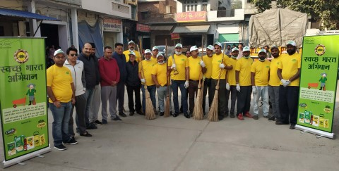 Swachtha Abhiyaan at Nawanshahr old grain market area by Bunge India