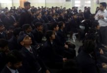 Students attend talk on 'Stress management & dietary habit'
