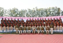 Passing Out Parade of 18t&19th batch of 61 recruit constables was held at Parade ground