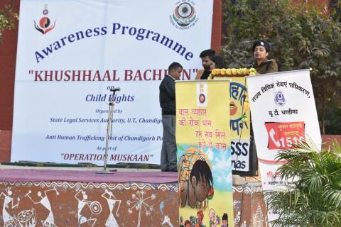 'Khushhaal Bachpan' organized by Anti Human Trafficking Unit of Chandigarh Police