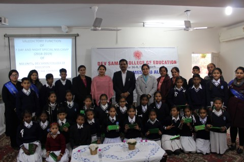 Week long NSS camp concludes at Dev Samaj College of Education