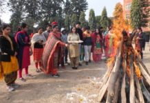 Khalsa College Mohali celebrates Lohri with Special Children