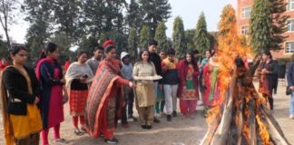 Khalsa College Mohali celebrates Lohri with Special Children