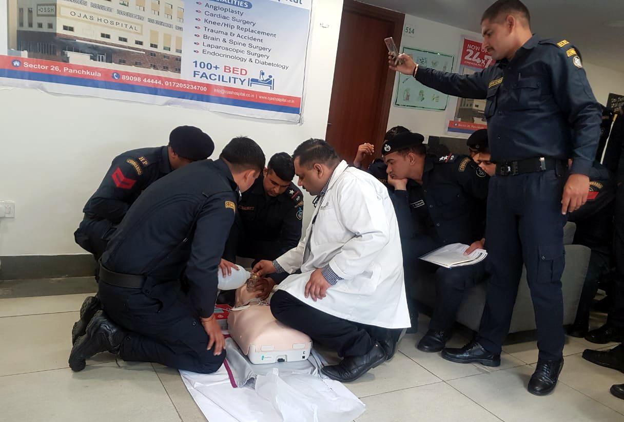 Ojas Hospital imparts life-saving training to Haryana Commandos