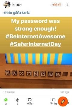 Celebrities record messages to create awareness around a safer internet in India
