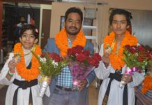 Emerald Marshal Arts Academy: Ravi Gharti and Tarushi Gaur bagged Gold Medal