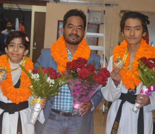 Emerald Marshal Arts Academy: Ravi Gharti and Tarushi Gaur bagged Gold Medal