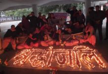 Pink Brigade of the Nari Jagriti Manch pay homage to Pulwama martyrs