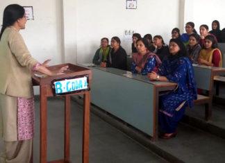 Health talk held at PG Girls' College Panchkula