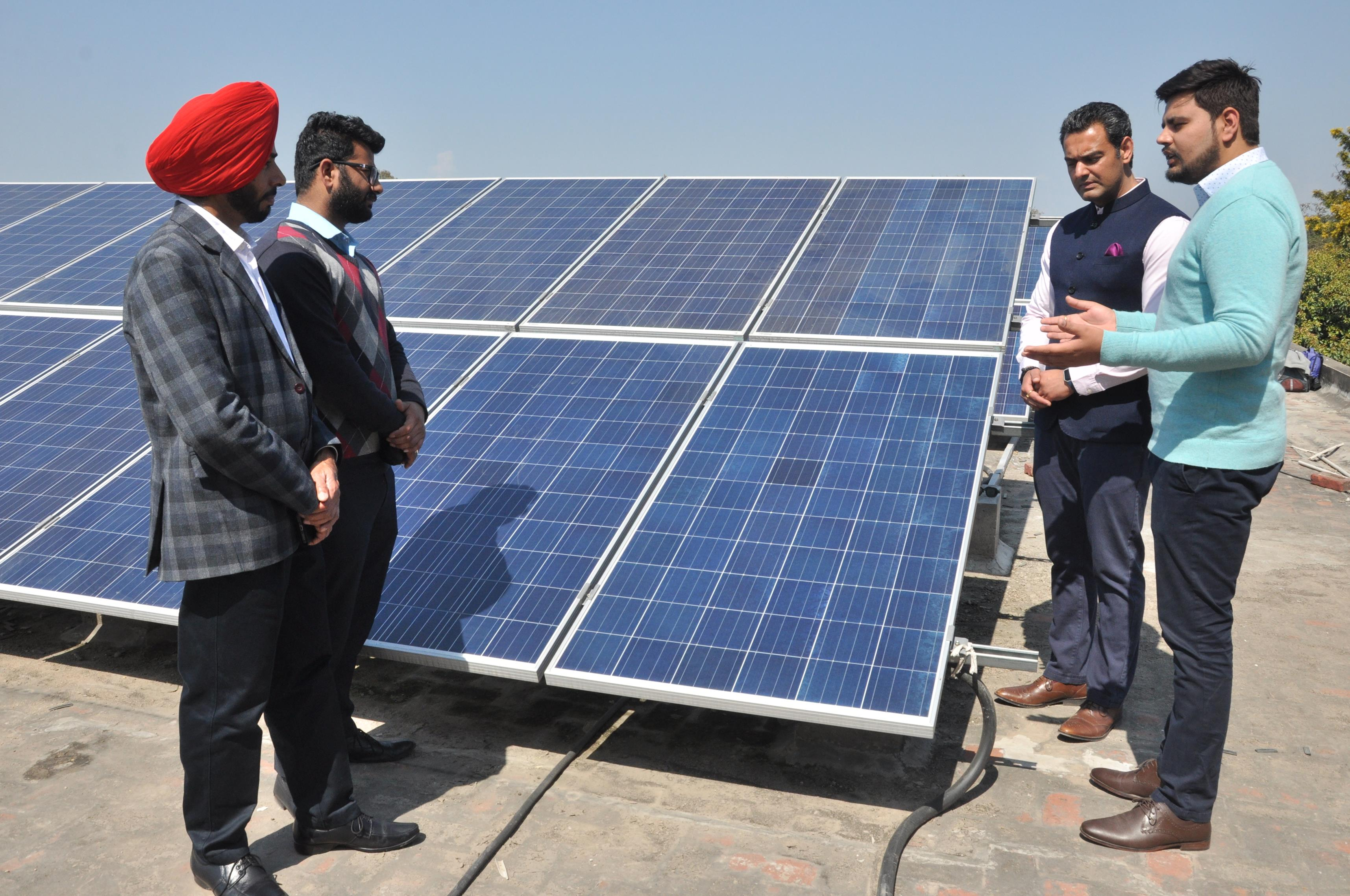 100 KW Rooftop Solar Plant inaugurated at Dev Samaj College of Education