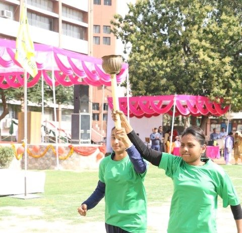 Dev Samaj College for Women holds its Annual Athletic Meet