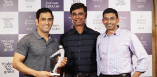 Indian Terrainsigns celebrated cricketer Mahendra Singh Dhoni as Brand Ambassador