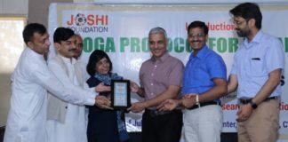 Yoga protocol for de-addiction introduced by Joshi Foundation