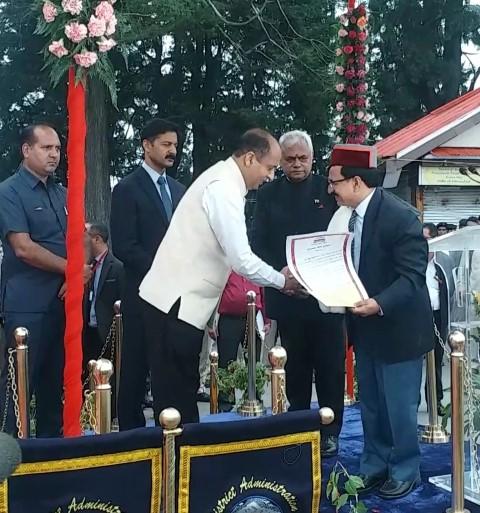 Dr. RameshKumarSen conferred with Himachal Gaurav Award
