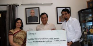 Fortis Healthcare contributes Rs One crore to the Chief Minister's Relief Fund, Assam