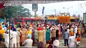 550th Nagar Kirtan of Guru nanak ji Reached chandigarh