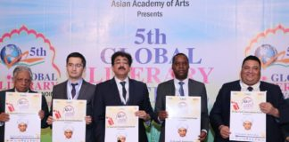 The closing ceremony of the 5th Global Literary Festival Noida