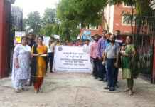NSS Wing of Khalsa College, Mohali organized awareness rally for a healthy life Mohali, September 27, 2019: A special awareness rally based on nutritious diet was organized from the college campus by the NSS wing of Khalsa College of Technology and Business Studies, located in Phase 3A. The rally reached the college campus after passing through residential areas. The awareness rally was flagged off by Principal Dr. Harish Kumari of the college. The rally was taken out under the leadership of Naveen Kumar, the Nodal Officer of the NSS wing of the college. The NSS Volunteers stressed on the need to go door-to-door to the local residents to make nutritious food an integral part of their lives. Volunteers also held awareness banners related to nutritious diet in their hands during the rally.