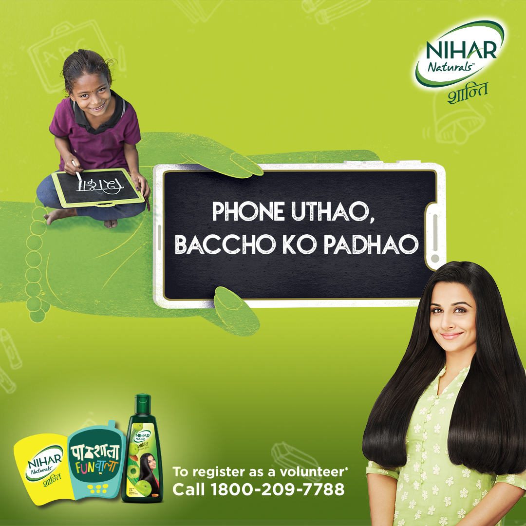 """Phone Uthao India Ko Padhao"" launched by Marico's Nihar Shanti Amla"