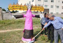 Docs, patients burn Ravana effigy symbolizing various diseases