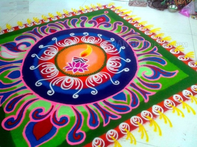 Happy Diwali 2019 Easy Designs Patterns with Flowers Images