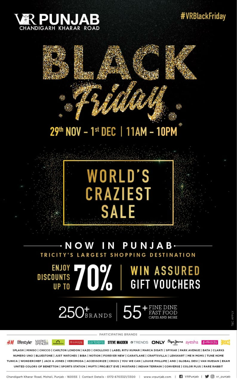 VR Punjab announces Black Friday sale to mark Post Harvest&Christmas Festivities