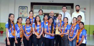 CGC Jhanjeri Girls won PTU's Inter College Volleyball Tournament