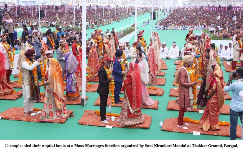 73 Couples Merry at Nirankari Mass Wedding Function