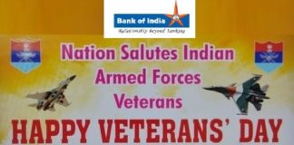 Bank of India Salutes Indian Armed Forces Veterans