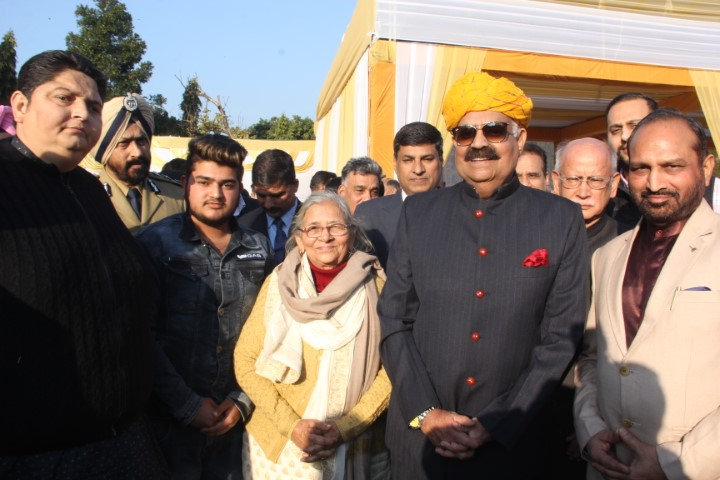 "V. P. Singh Badnore Greets people on ""At Home"" at Punjab Raj bhawan"