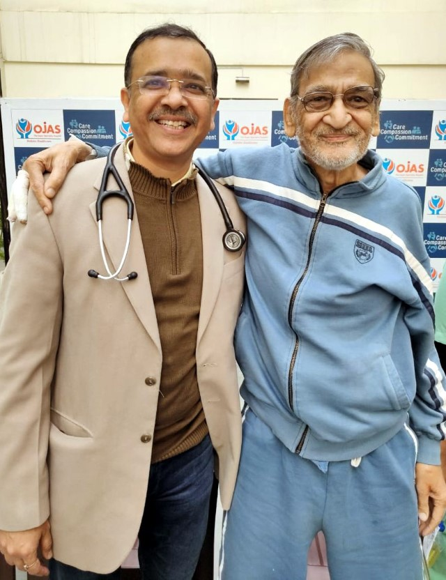 75-yr heart patient undergoes high risk stenting successfully
